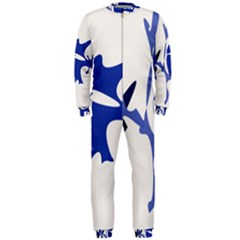 Blue amoeba abstract OnePiece Jumpsuit (Men)