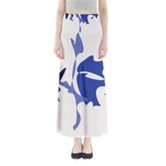 Blue amoeba abstract Maxi Skirts