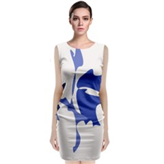 Blue Amoeba Abstract Classic Sleeveless Midi Dress
