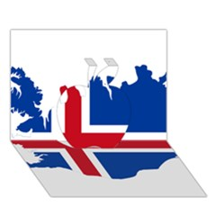 Iceland Flag Map Apple 3D Greeting Card (7x5)