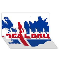 Iceland Flag Map BEST BRO 3D Greeting Card (8x4)