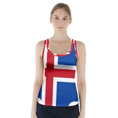 Iceland Flag Map Racer Back Sports Top