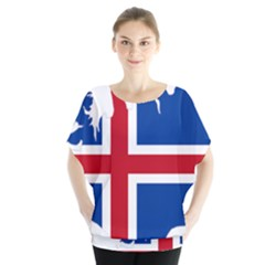 Iceland Flag Map Blouse
