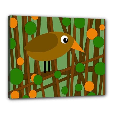 Brown bird Canvas 20  x 16