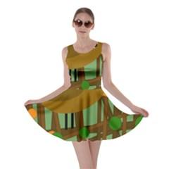 Brown bird Skater Dress