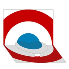 Roundel Of The French Air Force  Heart Bottom 3d Greeting Card (7x5)