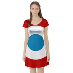 Roundel of the French Air Force  Short Sleeve Skater Dress