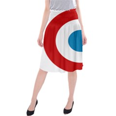 Roundel of the French Air Force  Midi Beach Skirt