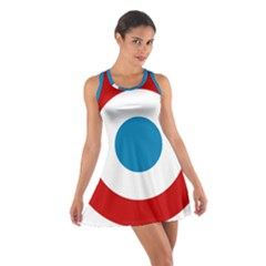 Roundel Of The French Air Force  Cotton Racerback Dress