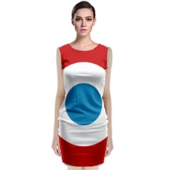 Roundel of the French Air Force  Classic Sleeveless Midi Dress