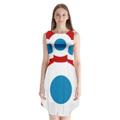Roundel Of The French Air Force  Sleeveless Chiffon Dress
