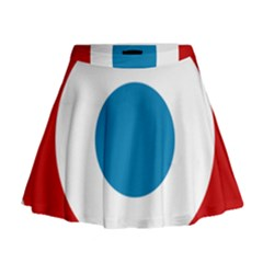 Roundel Of The French Air Force  Mini Flare Skirt