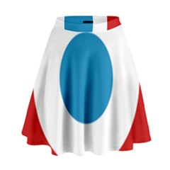 Roundel Of The French Air Force  High Waist Skirt
