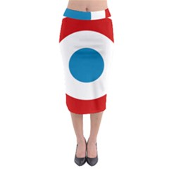 Roundel Of The French Air Force  Midi Pencil Skirt
