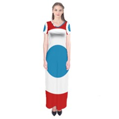 Roundel Of The French Air Force  Short Sleeve Maxi Dress