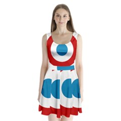 Roundel Of The French Air Force  Split Back Mini Dress