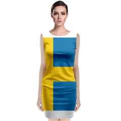 Flag Of Sweden Classic Sleeveless Midi Dress