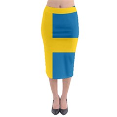 Flag Of Sweden Midi Pencil Skirt