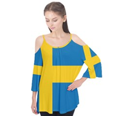 Flag Of Sweden Flutter Tees