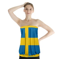 Flag Of Sweden Strapless Top