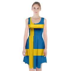 Flag Of Sweden Racerback Midi Dress