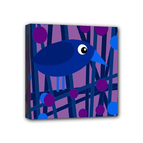 Purple bird Mini Canvas 4  x 4