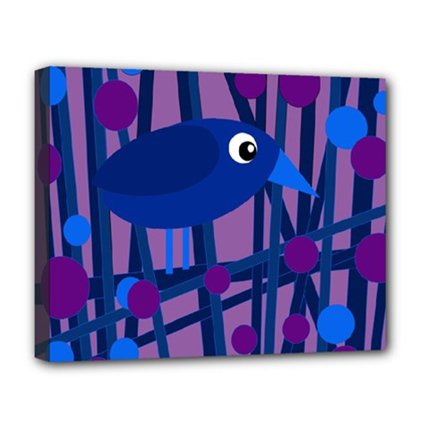 Purple bird Deluxe Canvas 20  x 16