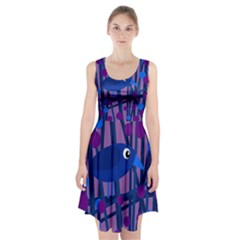 Purple bird Racerback Midi Dress