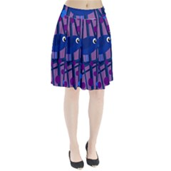 Purple bird Pleated Skirt