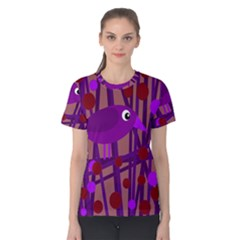 Sweet purple bird Women s Cotton Tee
