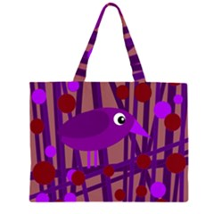 Sweet purple bird Large Tote Bag