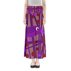 Sweet purple bird Maxi Skirts