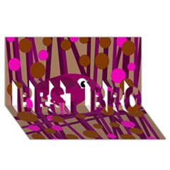 Cute magenta bird BEST BRO 3D Greeting Card (8x4)