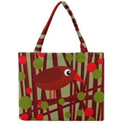 Red cute bird Mini Tote Bag