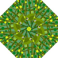 Cute green bird Hook Handle Umbrellas (Medium)