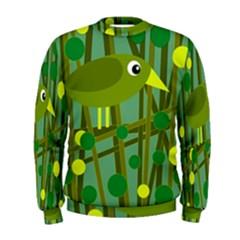 Cute green bird Men s Sweatshirt