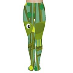 Cute green bird Women s Tights