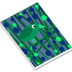 Green And Blue Bird Large Memo Pads
