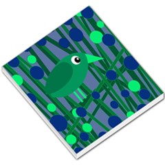 Green and blue bird Small Memo Pads