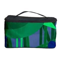 Green and blue bird Cosmetic Storage Case