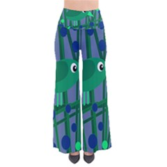 Green And Blue Bird Pants