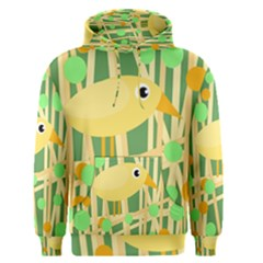 Yellow little bird Men s Pullover Hoodie