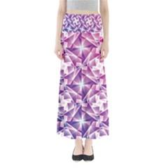 Purple Shatter Geometric Pattern Maxi Skirts