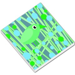 Green bird Small Memo Pads