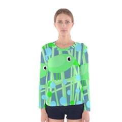 Green bird Women s Long Sleeve Tee