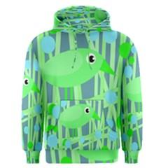 Green bird Men s Pullover Hoodie