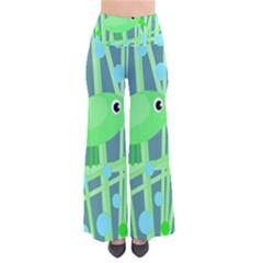 Green bird Pants