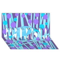 Blue and purple bird #1 MOM 3D Greeting Cards (8x4)