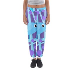 Blue And Purple Bird Women s Jogger Sweatpants