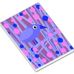 Purple And Blue Bird Large Memo Pads